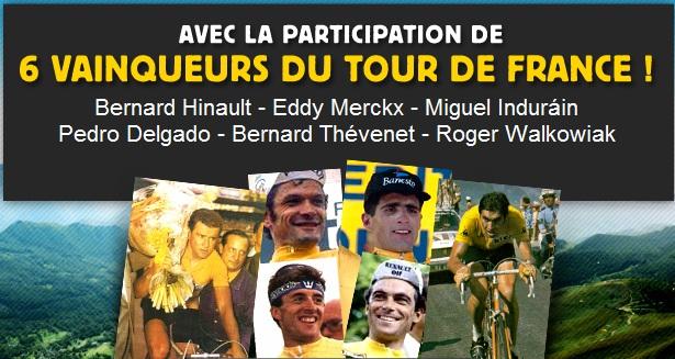 Bernard Hinault, Eddy Mercks, Mighue Indirain, Bernard Thévenet