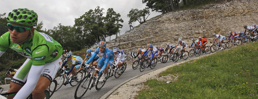 Descente Vélo cycliste professionnel