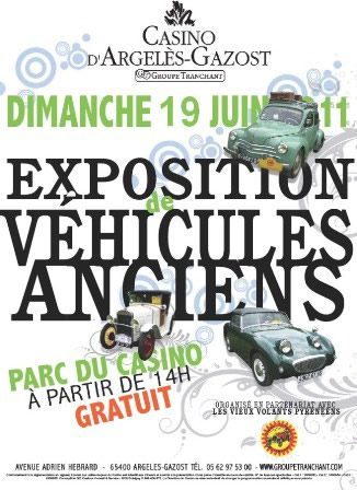 Expositon véhicules anciens argelès gazost