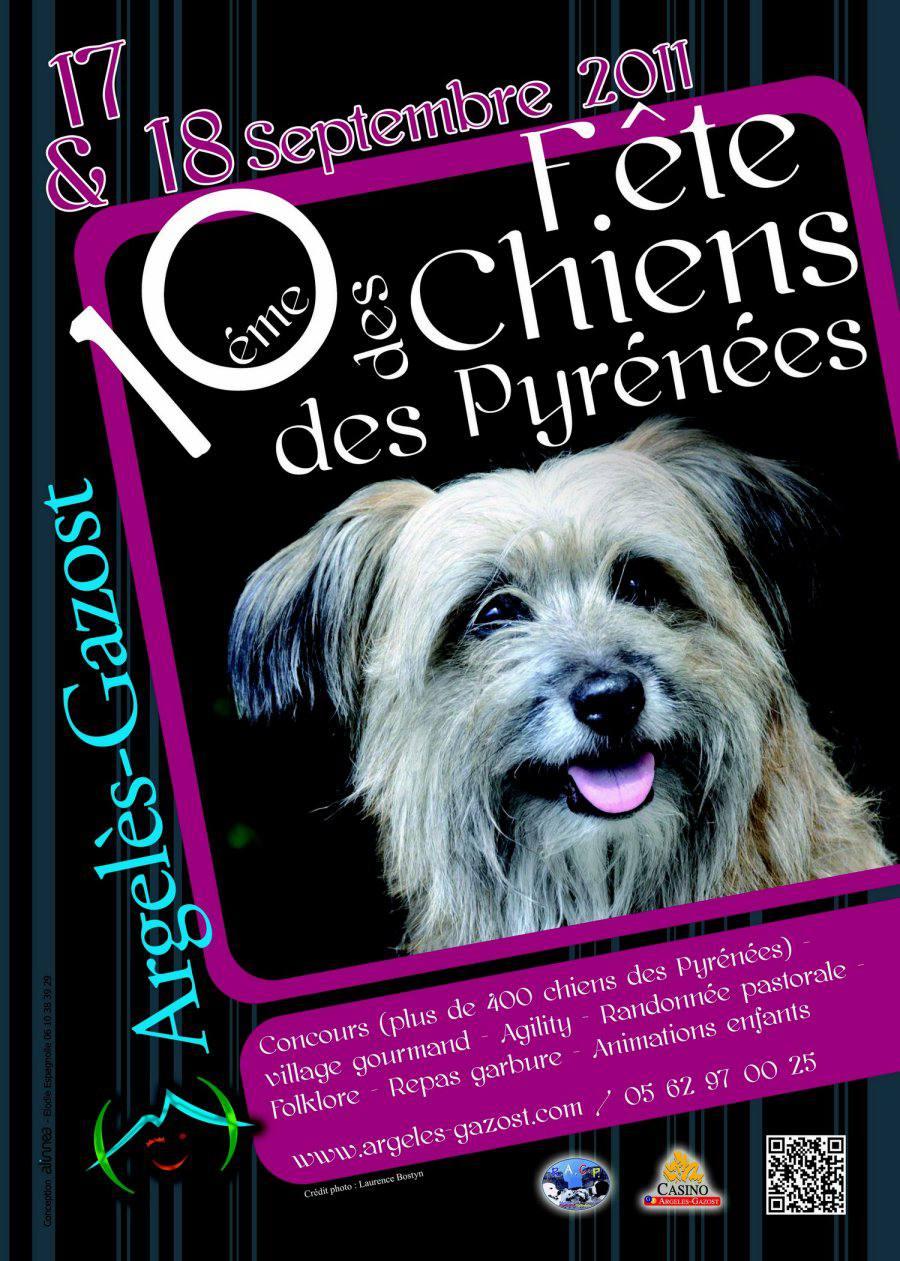 Fetes de chiens des pyrénées 2011 à Argelès Gazost
