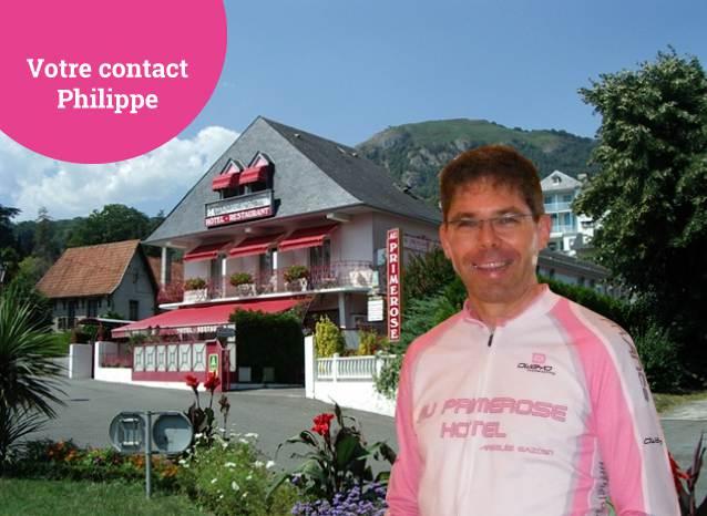 Votre contact, Philippe, Au Primerose Hotel, Argeles Gazost