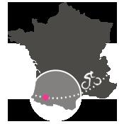 Situation des Pyrénées sur la Carte de France